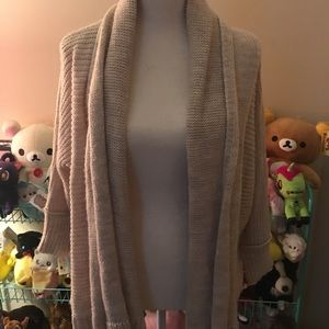 American Eagle Cozy Chunky Open Cardigan Sweater